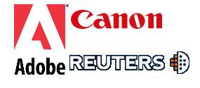 Adobe Reuters y Canon