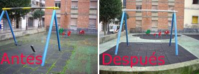 Foto denuncia parque arreglado