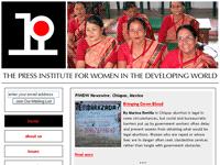 Captura de la web de The Press Institute for Women in the Developing World