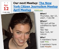 New York Citizen Journalism Meetup