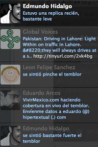Entradas de Twitter